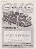 1937 GMC Truck Cab Over Engine/ Helmet Top print ad