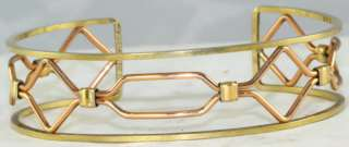 VTG ART DECO KREMENTZ ROSE YELLOW GOLD ROSE BRACELET