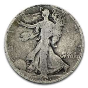 1921 D Walking Liberty Half Dollar (Good) Toys & Games