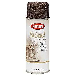 Make It Stone® Textured Paints   Black Granite  Krylon Tools