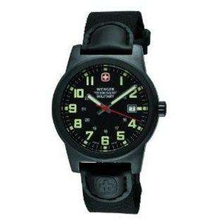 Classic Field Watch, Black Dial with Date, IP Gun Metal Case, Black