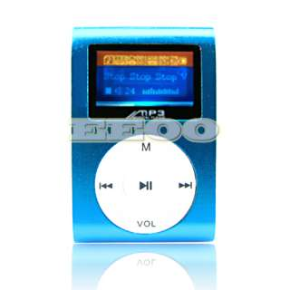 USB Flash Disk 4GB Mini Clip Gift  Player with LCD Screen Blue