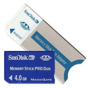 SanDisk 4GB Memory Stick Pro Duo Card Electronics