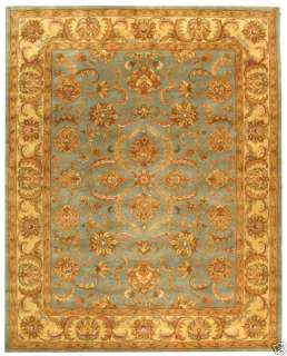 Hand tufted Heritage Blue/Beige Wool Carpet Area Rug 10 x 14