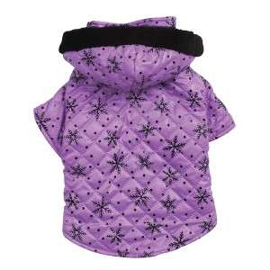 Zack & Zoey Winter Wonderland Dog Coat Jacket Purple