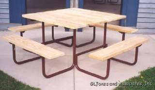 Gerber 16SQ 4 Commercial Square 4 Picnic Table Frame