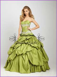 new Quinceanera red wedding Prom Ball Gowns Evening Dress Lace up US