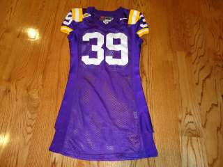 2002 LSU Football GAME USED JERSEY #39 RYAN GAUDET