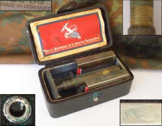WW2 ORIGINAL GERMAN OFFICER'S BOXED SHAVING SET