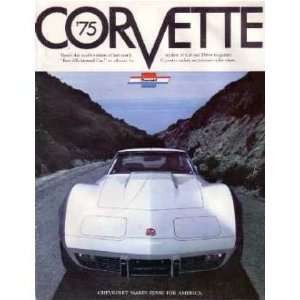 1975 CHEVROLET CORVETTE Sales Brochure Literature Book