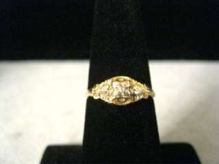 ANTIQUE 14K YELLOW GOLD OLD CUT DIAMOND RING