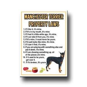 Manchester Terrier Property Laws Fridge Magnet