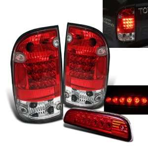 Eautolight 01 04 Tacoma Red Clear LED Tail Lights + LED