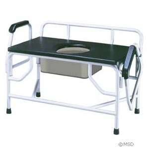 Bariatric Extra Large Drop Arm Commode Health & Personal