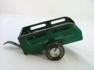 Green Nylint Metal Muscle Trailer Toy Utility Trailers
