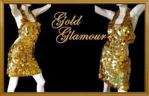 Tailor Gold Latin sequin Latin SALSA Jive dance dress