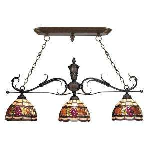 GoldenHarvest 3 Light Hanging Antique Bronze Island Light DISCONTINUED