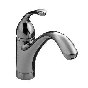 KOHLER Forte Single Hole 1 Handle Low Arc Kitchen Faucet in Polished
