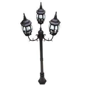 Hampton Bay 3 Head Outdoor Post Light HB7017P 05