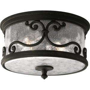 Progress Lighting Augusta Collection Forged Black 2 light Outdoor