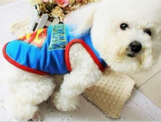 Cute Pet Dog Clothes Superman T Shirt 3 Colors  Size S,M