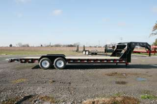 New 26 x 83 Gooseneck Carhauler Equipment Trailer w/ 7K Axles