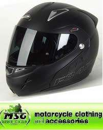 Nitro F347 VN Front Flip Motorcycle Helmet Satin Matt Black Small