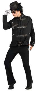 Deluxe Black Michael Jackson Bad Buckle Jacket Costume   Michael