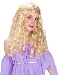 Girls Blonde Princess Costume Wig   Girls Costume Wigs