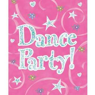 Girl Time Dance Prismatic Invitations (8 count)   Package includes 8
