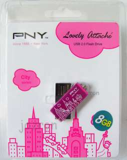 PNY 8GB 8G USB Flash Pen Drive Memory Disk New York PK