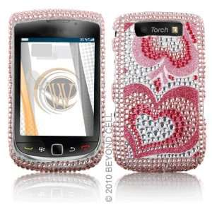 BlackBerry 9800 Torch Cell Phone Full Crystals Diamonds Bling