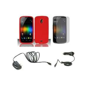 Prime (Verizon) Premium Combo Pack   Red Silicone Soft Skin Case Cover