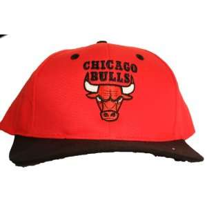 Chicago Bulls Red/Black Two Tone Snapback Adjustable Plastic Snap Back