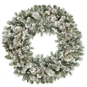 Snow Kissed Artificial Christmas Wreath   Clear Lights