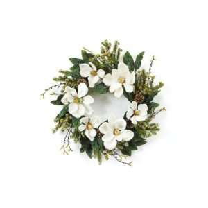 Iced Magnolia Artificial Christmas Wreaths 20   Unlit