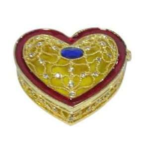 Heart Box   Jewelry Trinket Box Swarovski Crystal (L) (JF1857) Beauty