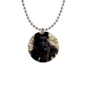 Scottish Terrier Puppy Dog 2 Button Necklace B0763
