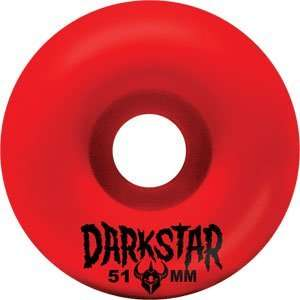 Darkstar Tight 51mm Red Skateboard Wheels (Set Of 4