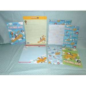 Snoopy Flying Ace Pilot Mini Letter & Envelope Set Toys & Games