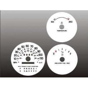 1995 1999 Chevrolet Monte Carlo Lumina White Face Gauges Automotive