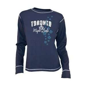 Old Time Hockey Toronto Maple Leafs Womens Bianca Long Sleeve T shirt