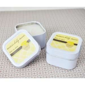 Personalized Honey Pot Square Baby Shower Candle Tins