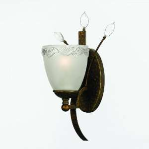 Gold / Bronze Horizon Rustic 1 Light Sconce from the Horizon
