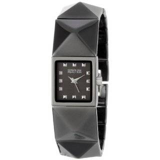Kenneth Cole REACTION Womens RK4113 Custom Rectangle Analog Black Ion