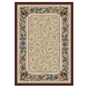 Tuscany Vine Garnet Antique Country 7.7 ROUND Area Rug
