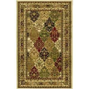 Collection LNH221A Multicolor Area Rug, 3 Feet 3 Inch by 5 Feet 3 Inch