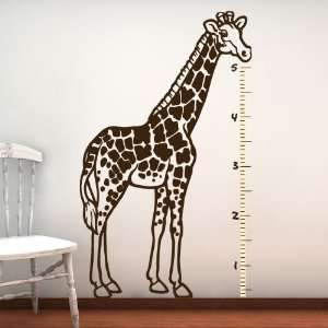 Giraffe Wall Decal, Kids GROWTH CHART, Vinyl Sticker