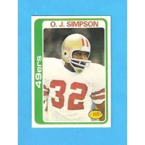 O. J. Simpson 1978 Topps Football (San Francisco 49ers
