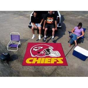 Huge NFL Kansas City Chiefs Indoor/Outdoor Tailgater Floor Mat 72